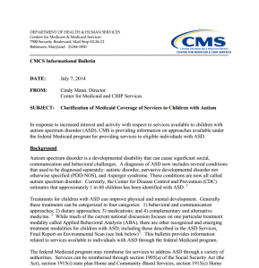 CMS clarification bulletin